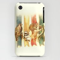 iPhone 3Gs & iPhone 3G Cases featuring House Brawl by Alice X. Zhang