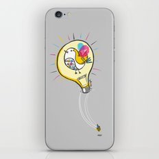 Riding a Bird in a Buld iPhone & iPod Skin