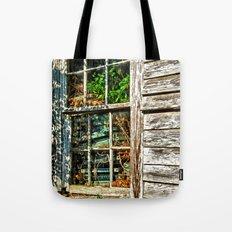 Overgrown Behind the Window Tote Bag