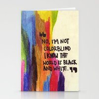 I'm Not Colourblind Stationery Cards