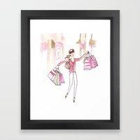 Shopping Spree Framed Art Print