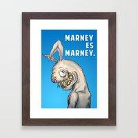 Marney es Marney Framed Art Print