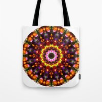 Pansy Kaleidoscope Tote Bag