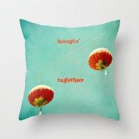 Hangin' Together Throw Pillow
