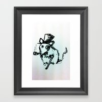 Scribble Mouse Framed Art Print