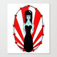 Lady In Black Canvas Print