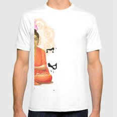 Buddha Mens Fitted Tee SMALL White