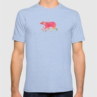 Baer  With Flowers I Mens Fitted Tee Tri-Blue MEDIUM
