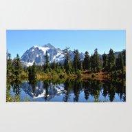 Mount Shuksan On A Sunny… Rug