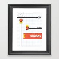 Sladek Single Hop Framed Art Print