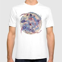 Spiral Stare Face Mens Fitted Tee White SMALL