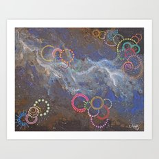 Fireworks In Space III Art Print