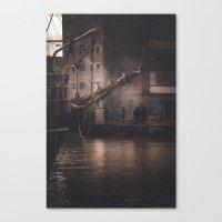 Working Dock Canvas Print