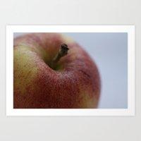 Fruit Fine Art Print - Green, Yellow, Red Gala Apple Photo - Wall Art - Home Decor -