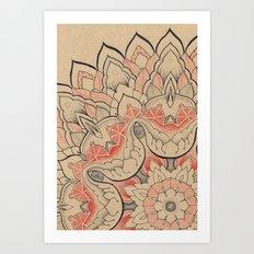 Floral Textile Art Print