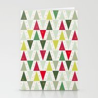 Christmas Trees, Abstrac… Stationery Cards