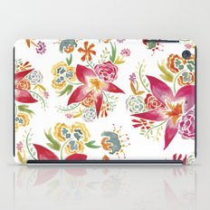Tropical Flowers Watercolor iPad Case