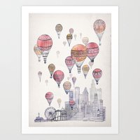 Voyages Over Santa Monica Art Print
