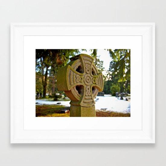 Celtic snow Framed Art Print