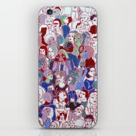iPhone & iPod Skin featuring The Crowd by Clara López