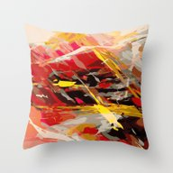 Fire Cage Throw Pillow