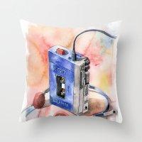 Vintage gadget series: Sony Walkman TPS-L2 Throw Pillow