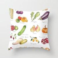 Calendar July-Dec Throw Pillow