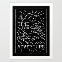 TIME FOR ADVENTURE (BW) Art Print