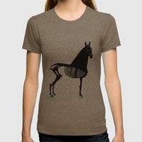 Horse  Womens Fitted Tee Tri-Coffee SMALL