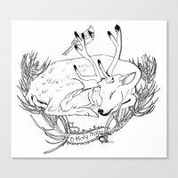 Yule Card Design  Canvas Print
