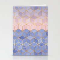 Rose Quartz & Serenity Cubes Stationery Cards