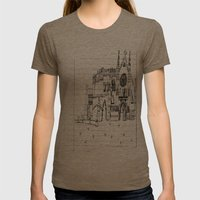 Childhood Drawings (Cathedral) Womens Fitted Tee Tri-Coffee SMALL