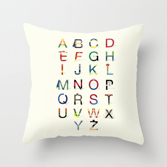 ABC SH (Option 2) Throw Pillow