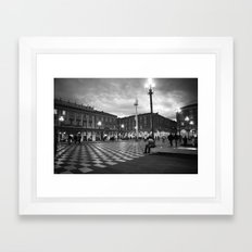the square in Nice Framed Art Print
