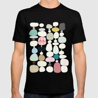 Stepping Stones Mens Fitted Tee Black SMALL