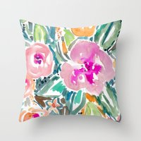 Hibiscus Jungle Throw Pillow