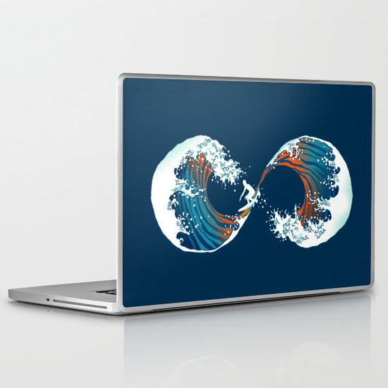 The Wave is forever Laptop & iPad Skin