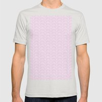 Art Deco Lavender Fields by Friztin Mens Fitted Tee Silver SMALL