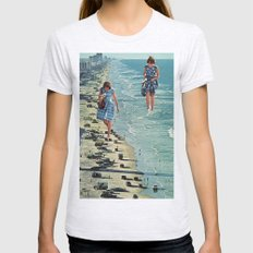 Walk on the Beach Womens Fitted Tee Ash Grey SMALL