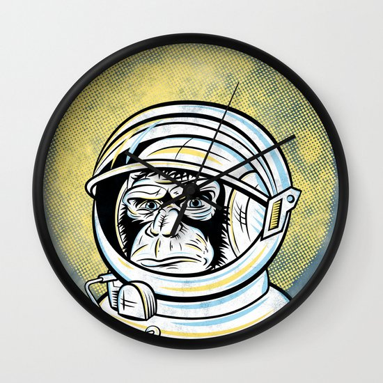 Space Ape Wall Clock