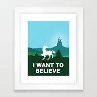 I WANT TO BELIEVE - Unicorn Framed Art Print