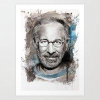 Steven Spielberg Art Print