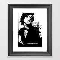 He Looks Shattered Framed Art Print