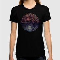 deepwater Womens Fitted Tee Black SMALL