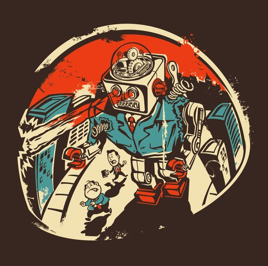 Mechanical Mayhem Art Print