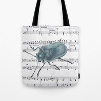 Music Beetle Tote Bag