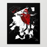Red Riding Hood Reloaded Canvas Print