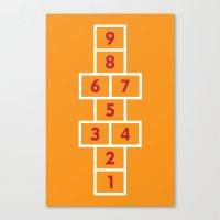 Hopscotch Orange Canvas Print