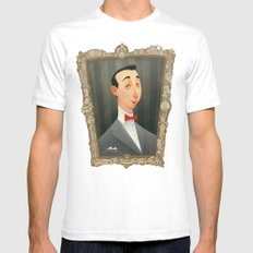 Pee Wee Herman Mens Fitted Tee White SMALL