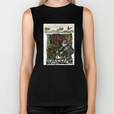 Surfing The History Of Trees Biker Tank